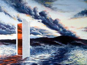 de deur in het meer