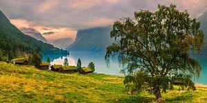 Oude boerderijen Lovatnet, Norway