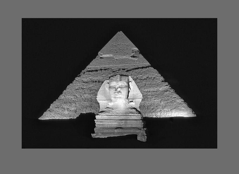 Sphinx et pyramide de Chéphren sur Frans Lemmens