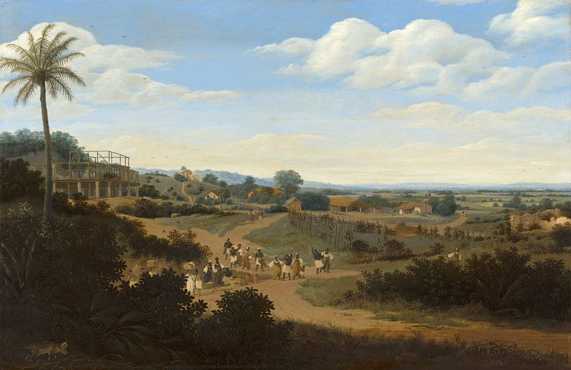 Brazilian Landscape with a House under Construction, Frans Post von Meesterlijcke Meesters