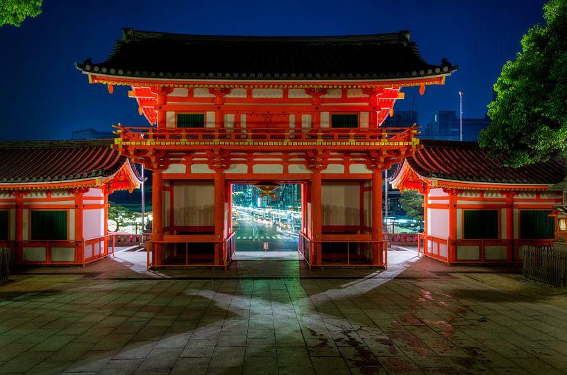 Een kijkje in Japan tempel van Michael Bollen
