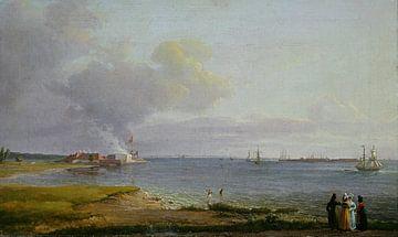 Blick über den Øresund bei den Kalkwerken, Johan Christian Dahl