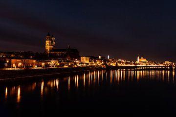 Magdeburg bei Nacht von Manuela Feuerhahn