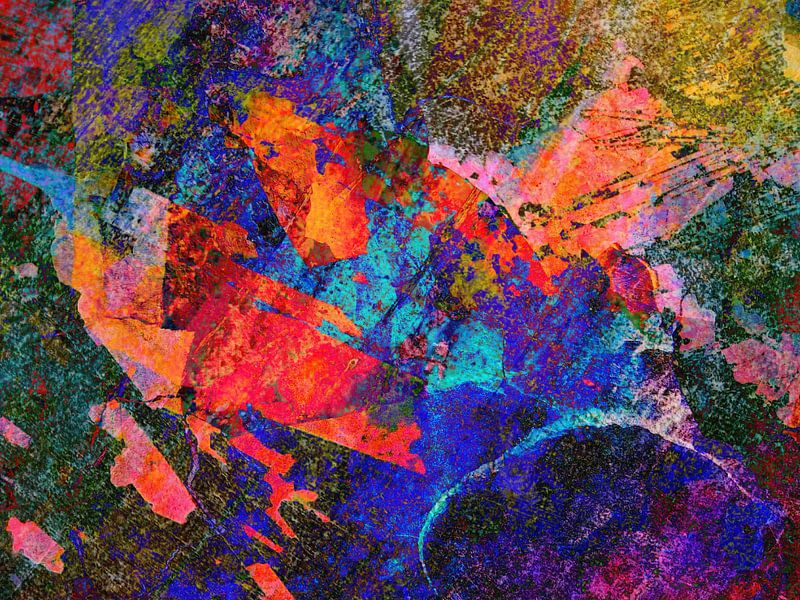 Modern, Abstract kunstwerk - Written in the Stars van Art By Dominic