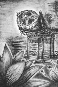 Japanse tekening van Cynthia Jansen