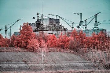 Reaktor Nr. 5 im Infrarot von Tschernobyl von Lars Beekman