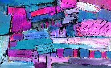 abstrakte Stadt von Claudia Gründler