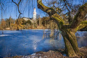 Zugefrorener Teich im Schlosspark von Bad Homburg van Christian Müringer