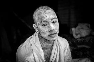 Sadhu op het hindoestaanse  Kumbh Mela festival in Haridwar India