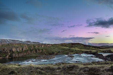 Zonsondergang in IJsland, Sunset in Iceland