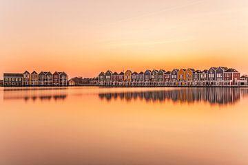 Ferienhäuser von Houten während eines schönen Sonnenuntergangs von Paul Weekers Fotografie