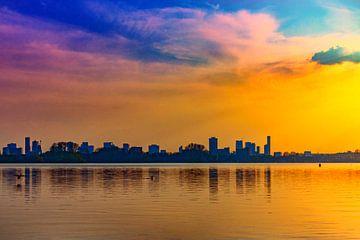 Skyline Rotterdam van Nathan Okkerse