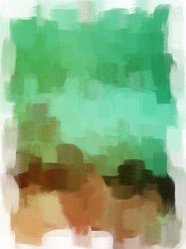 Abstrakt in Braun- und Grüntönen von Maurice Dawson