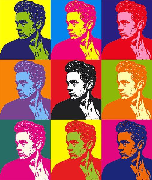 James Dean Pop Art van Laurance Didden