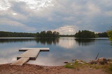 Lac Rådsjön, Orsa Grönklitt, Suède sur Albert de Vries