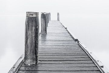 Steiger in de mist von Bert Zuidweg