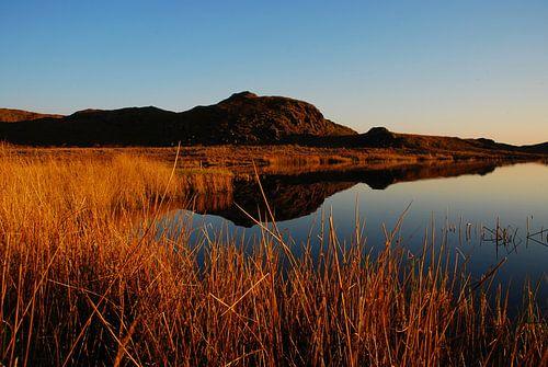 Sunset over lake in Cumbria