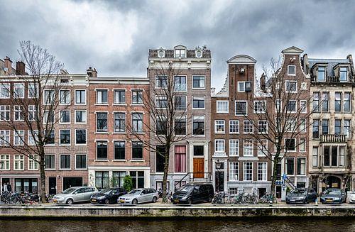Een stukje van de Nieuwe Herengracht in Amsterdam.