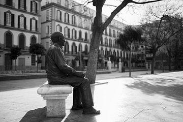 Picasso auf der Plaza de la Merced in Malaga, Spanien