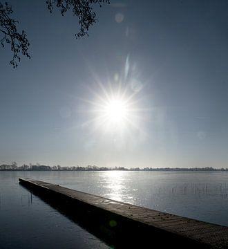 Winterzon boven Nannewiid von Rutger Hoekstra