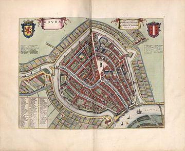 Gouda, Stadsplattegrond Joan Blaeu 1652 van Atelier Liesjes