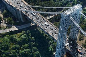 Manhattan Bridge - New York van Lucas Harmsen