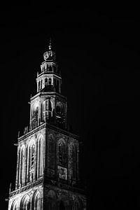 Martini-Turm bei Nacht von Alwin van Wijngaarden