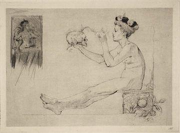 Coquetterie, Armand Rassenfosse, 1895 von Atelier Liesjes