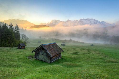 Fog at Geroldsee in Bavaria van