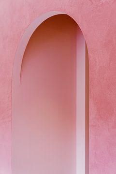 Roze architectuur ᝢ abstracte architectuurfotografie ᝢ texturen boog lijnen