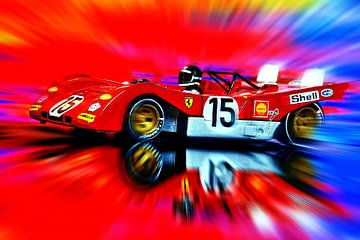 Jacky Ickx and Clay Regazzoni's Ferrari 312PB van Jean-Louis Glineur alias DeVerviers