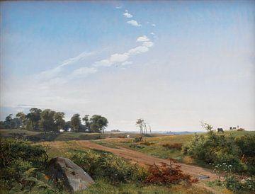 Johan Thomas Lundbye~Zeeländische Landschaft.offenes Land in Nordseeland