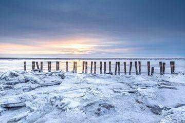 Een bevroren Waddenzee van P Kuipers