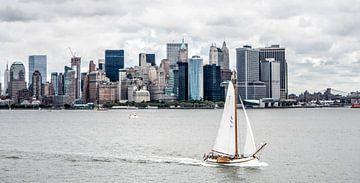 Skûtsje op de Hudson van Alex Hiemstra