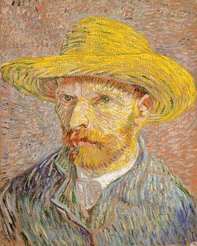 Selbstporträt mit einem Strohhut, Vincent van Gogh
