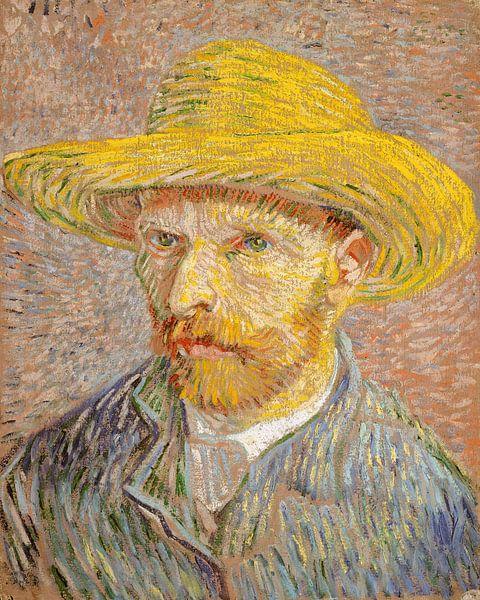 Zelfportret met een strooien hoed, Vincent van Gogh van Meesterlijcke Meesters