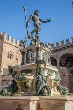 Fontaine de Neptune dans le centre de Bologne, Italie sur Joost Adriaanse
