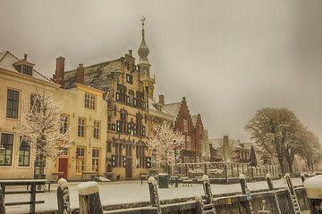 sneeuw in Veere stad van anne droogsma