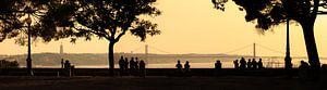Lissabon silhouet panorama