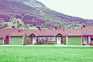Noorwegen, de groene huisjes