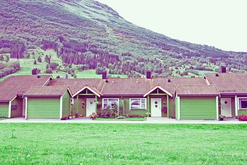 Noorwegen, de groene huisjes van Jolanda Kraus