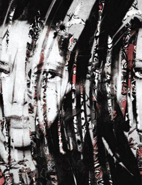 Ornella Muti Urban Collage Pop Art PUR van Felix von Altersheim