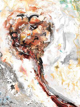 Bruine bolbloem van Christa Kerbusch