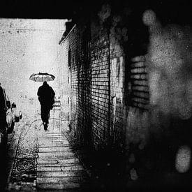 Regen in Berlijn van Frank Andree
