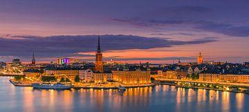 Zonsondergang in Stockholm van Henk Meijer Photography