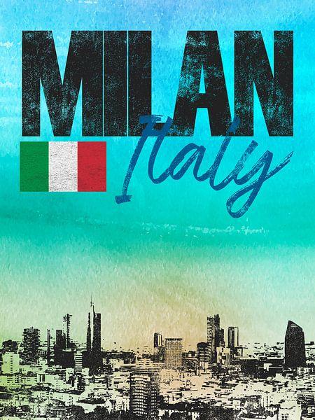 Milaan Italië van Printed Artings