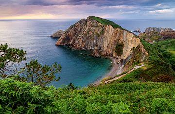 Playa del Silencio, Asturias, Spanje van Adelheid Smitt