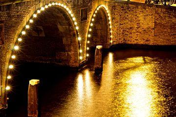 Amsterdam - Canal Lights van Maurits Simons