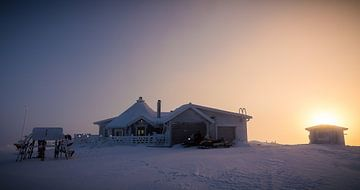 Lapland huis op de top. van Danny Leij