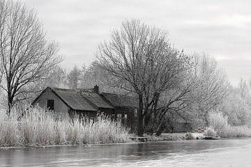 Winter tafereel langs de boezem in Groot Ammers von Jesse de Boom